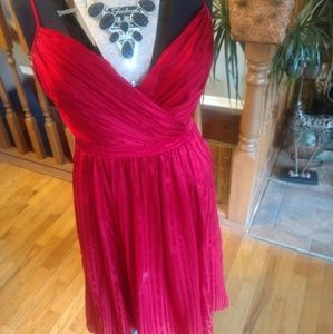 Arden B Red Chiffon Dress